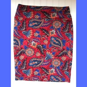 [LuLaRoe] Cassie Paisley Autumn Colors Skirt
